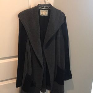 Anthropologie jacket extra large blue gray